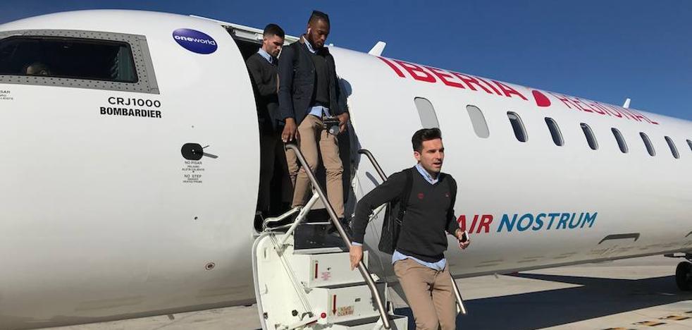 El Levante ya está en Barcelona para jugar los octavos de la Copa