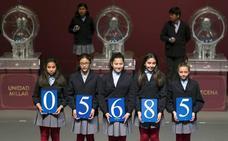 05685, primer premio en el sorteo de la Lotería del Niño 2018, vendido íntegramente en Bilbao