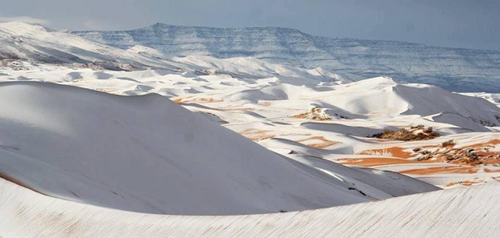 La insólita imagen del desierto nevado