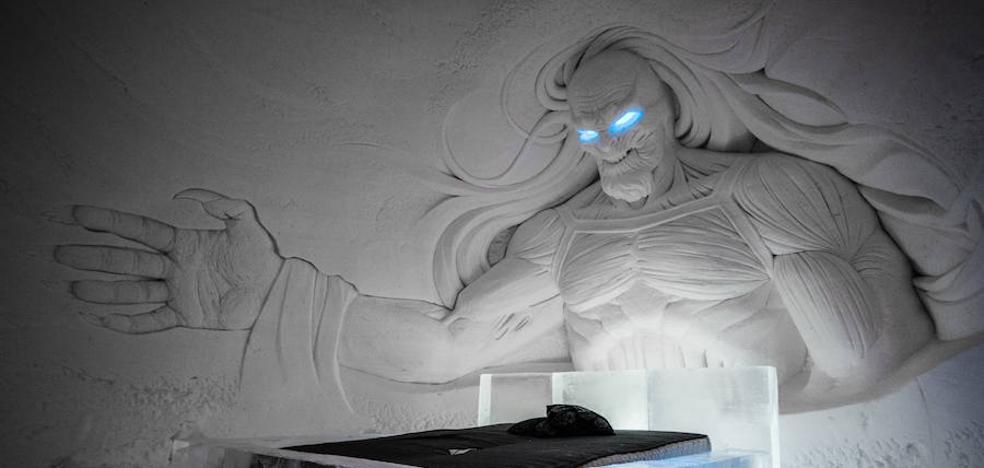 Un hotel finlandés de hielo y nieve recrea la serie 'Juego de Tronos'