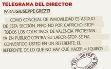 Telegrama para Giuseppe Grezzi