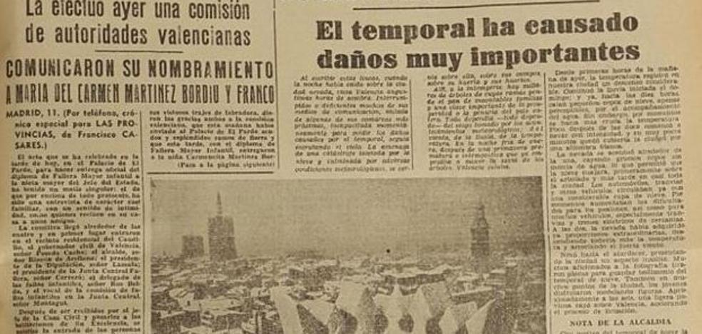 Tal día como hoy cayó la histórica nevada de 1960 sobre Valencia
