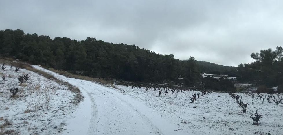 La nieve se deja ver en Utiel
