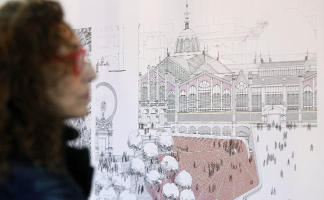 Los diseños de la plaza de Brujas olvidan el acceso al sótano del Mercado Central