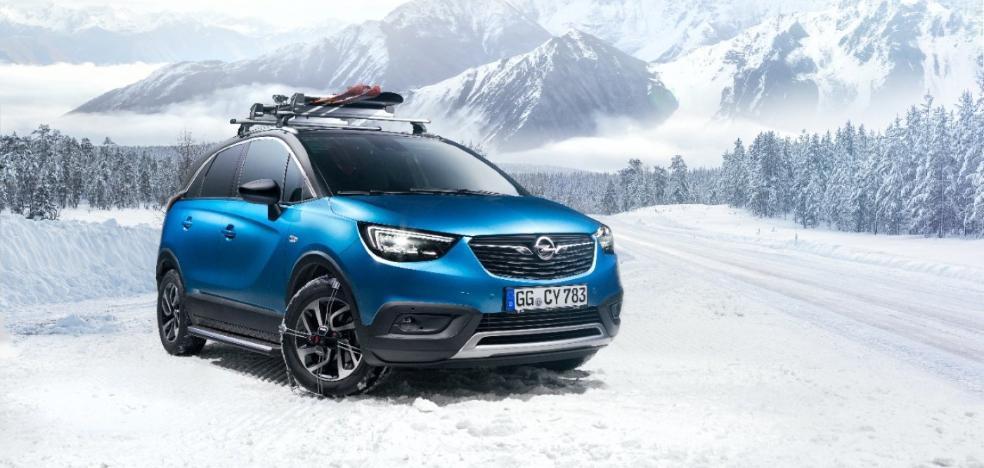 El Opel Crossland X, listo para la nieve