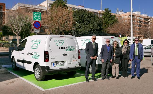 Zona de recarga de coches eléctricos