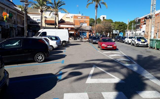 Paterna implanta zona azul gratuita en el centro de La Canyada a petición de comercios y vecinos