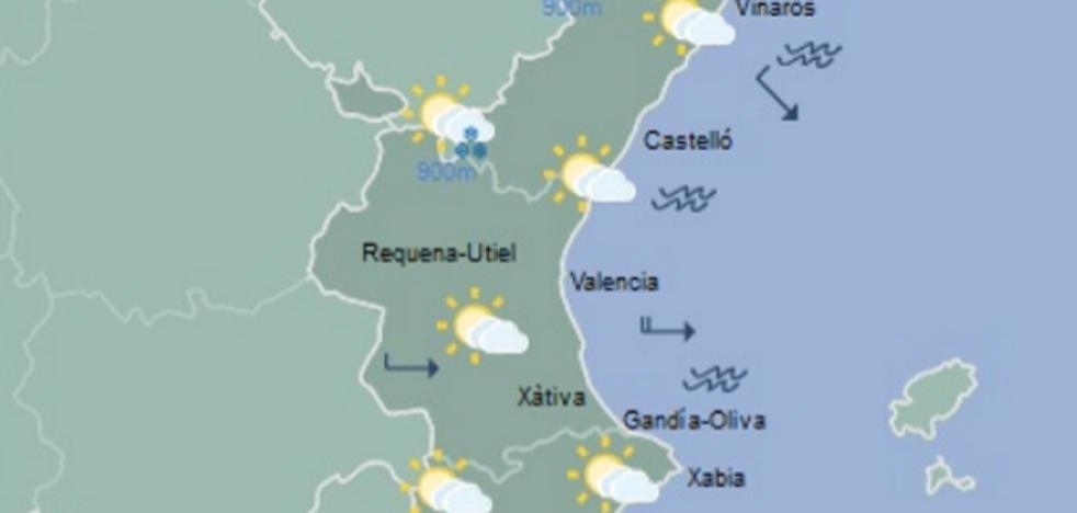 Mañana, mínimas de 4º a 8º en las capitales valencianas y heladas débiles en el interior
