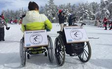 La Diputació de Valencia promociona el esquí adaptado