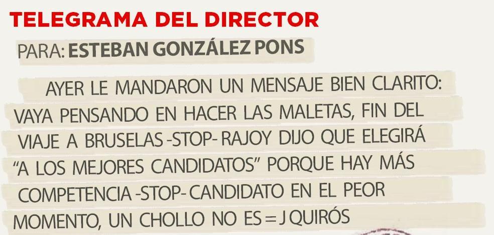 Telegrama para Esteban González Pons