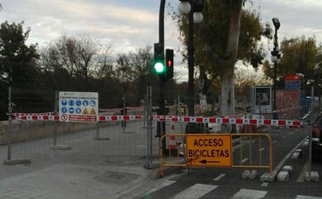 Más obras en Valencia: desde hoy entre los puentes de la Trinidad y del Real