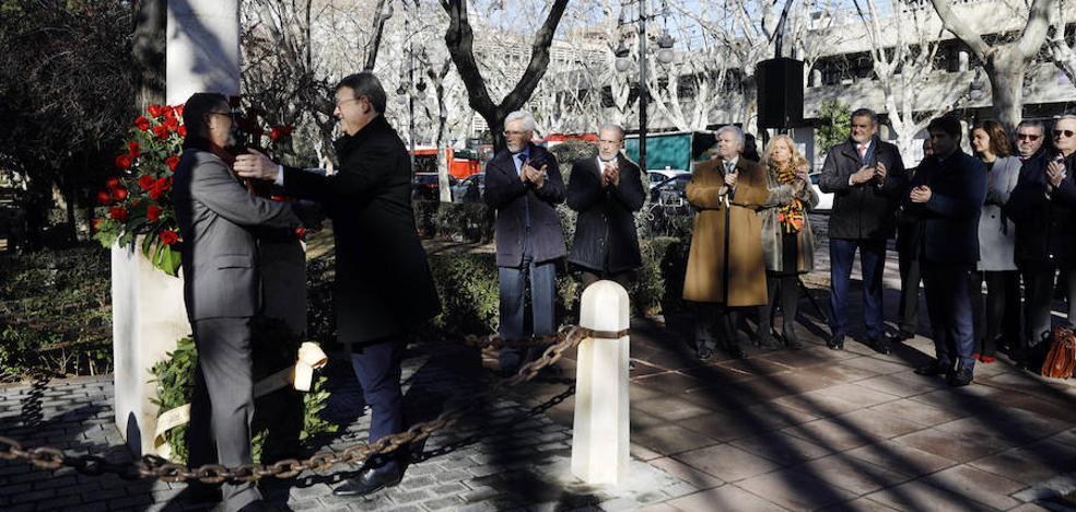Homenaje a Manuel Broseta en Valencia en el 26º aniversario de su muerte