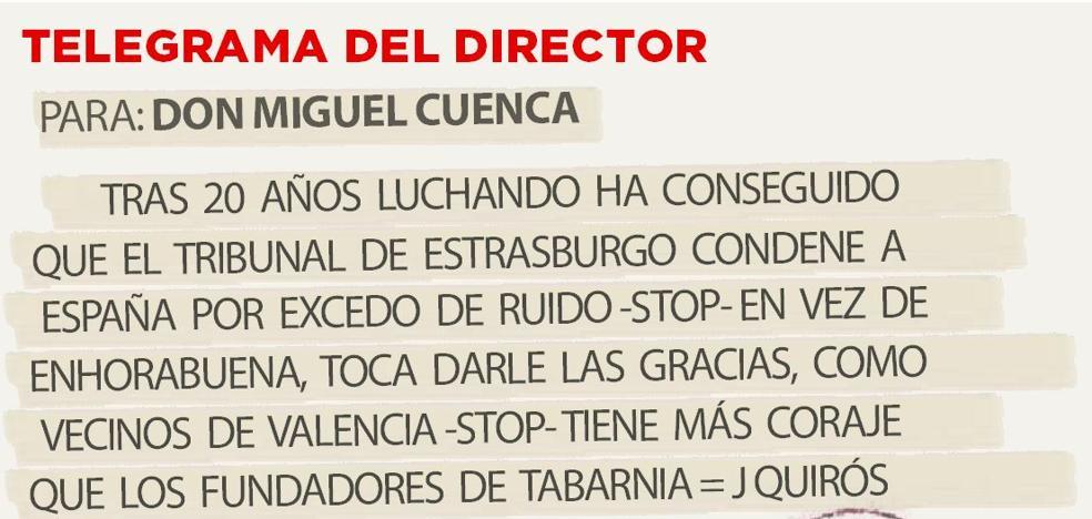 Telegrama para Don Miguel Cuenca