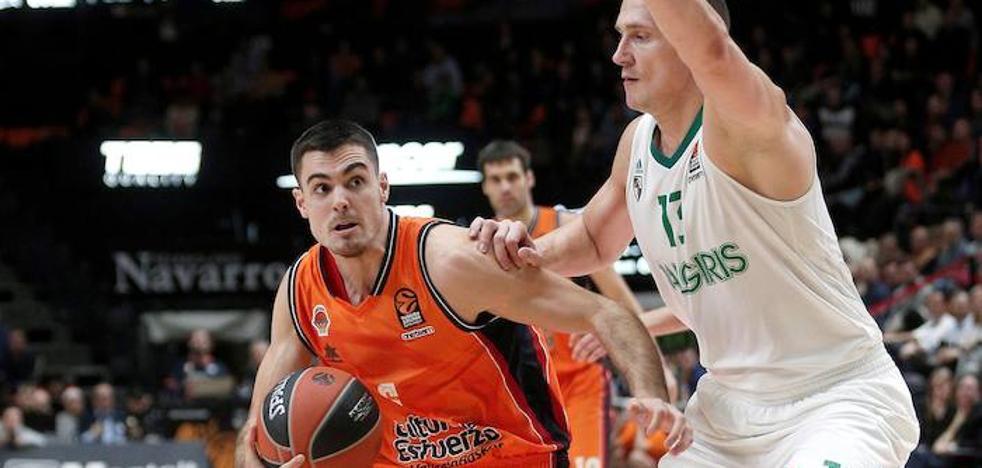 El Valencia Basket se entrena en un anexo del Zalgiris Arena