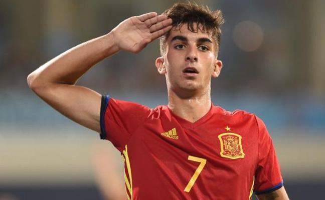 El valencianista Ferran Torres marca el segundo gol de España frente a Italia