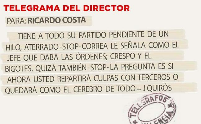 Telegrama para Ricardo Costa