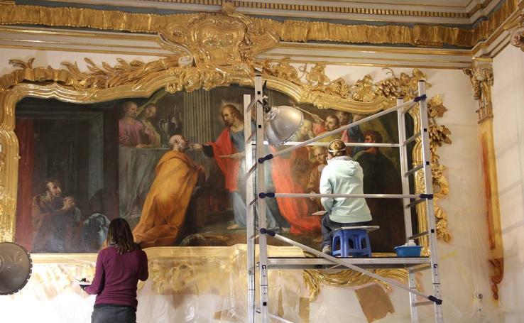 Fotos de la restauración de la capilla de la Comunión de la Parroquia de San Nicolás de Valencia