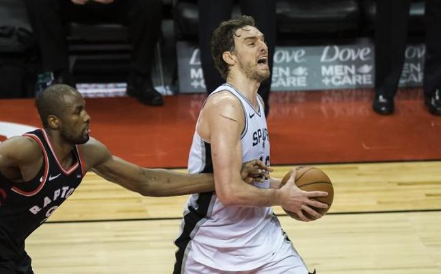 Los Raptors pueden con los Spurs de Gasol