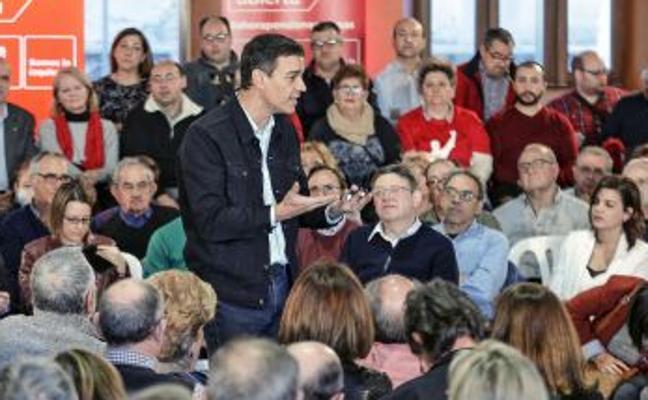 Pedro Sánchez, en Valencia: «La banca tiene que rescatar el sistema de pensiones»