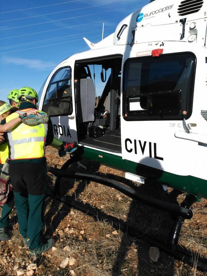 Rescate de dos ciclistas durante una carrera de montaña en Ontinyent