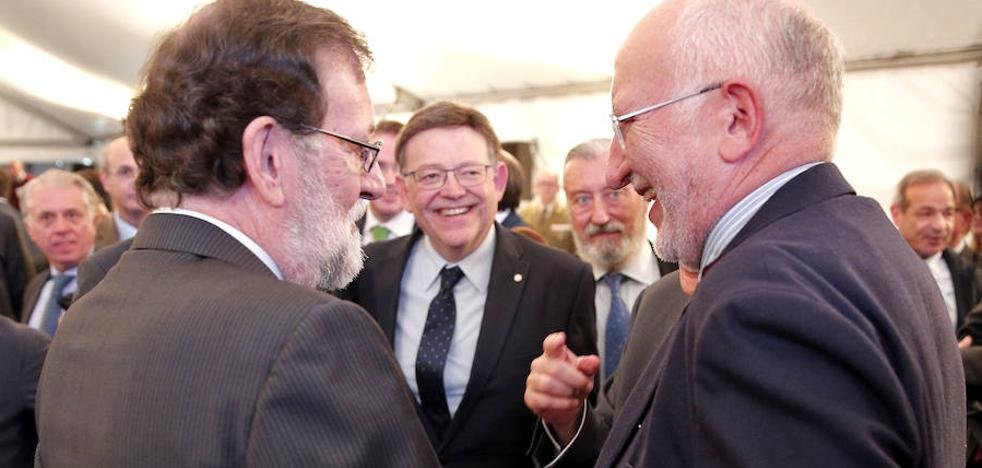 Rajoy pide a Puig que presione al PSOE para que se sume a un pacto de Estado por la financiación