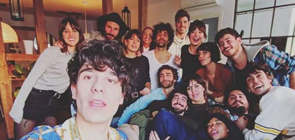 Macarena García y Leiva, juntos en el cumpleaños de Javier Calvo