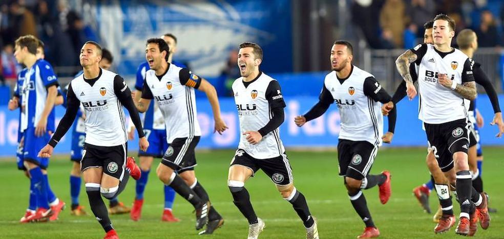 El Valencia pasa a semifinales de Copa del Rey