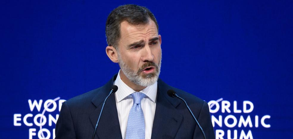 El Rey, en Davos: «La lección de la crisis de Cataluña es la necesidad de preservar el imperio de la ley»