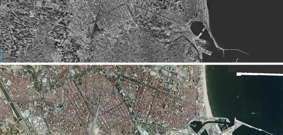 Así ha cambiado Valencia en 62 años