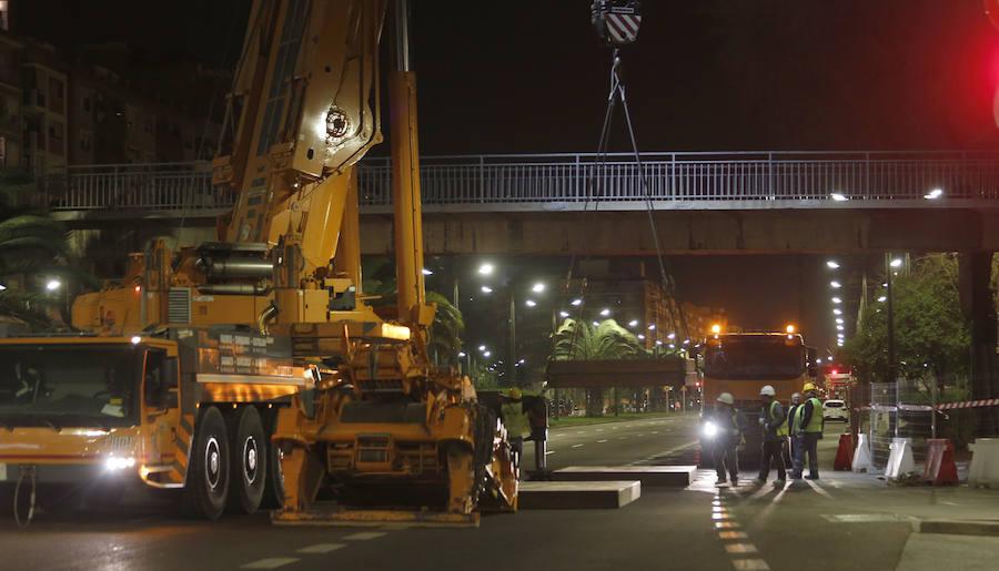 El desmontaje de las pasarelas de la avenida del Cid amenaza con seis meses de atascos