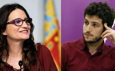 Oltra atrae a los jóvenes de Podemos para pactar en 2019