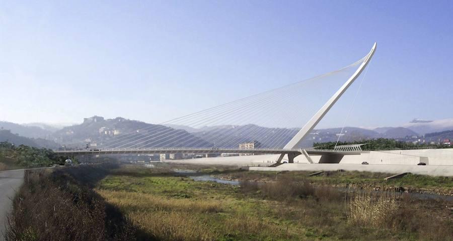 Fotos del puente de Santiago Calatrava en Cosenza