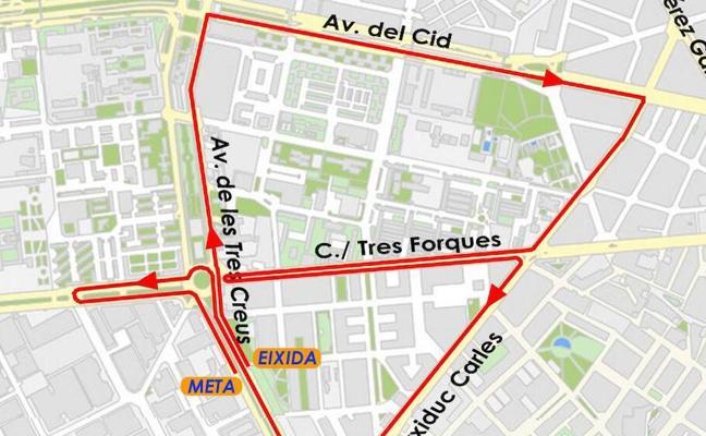 Calles cortadas el domingo por la XX Carrera Popular Galápagos