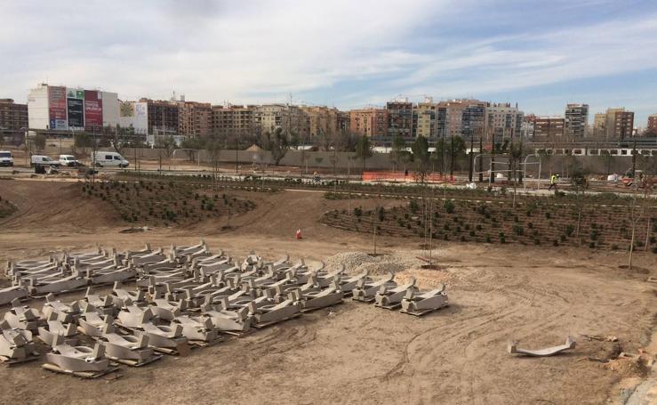 Fotos de las obras en el Parque Central de Valencia