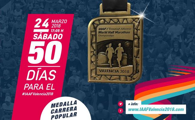 Presentan la medalla del Mundial de Medio Maratón