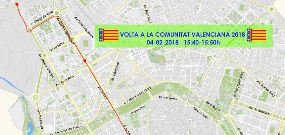 Calles cortadas el domingo en Valencia por la Volta Ciclista a la Comunitat Valenciana