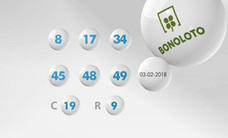 Resultados de la Bonoloto de hoy sábado 10 de febrero. Combinación ganadora del sorteo y números premiados