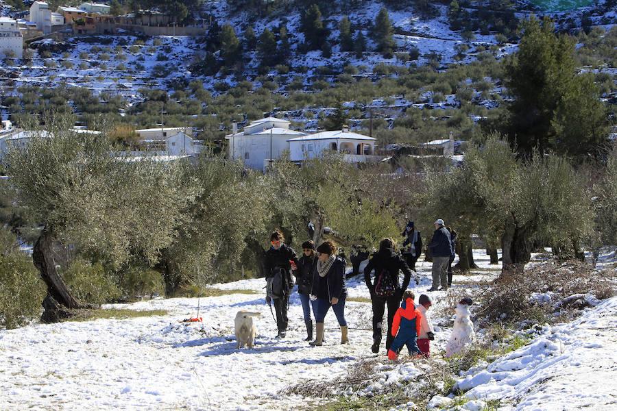 Fotos de la nieve en la Comunitat Valenciana