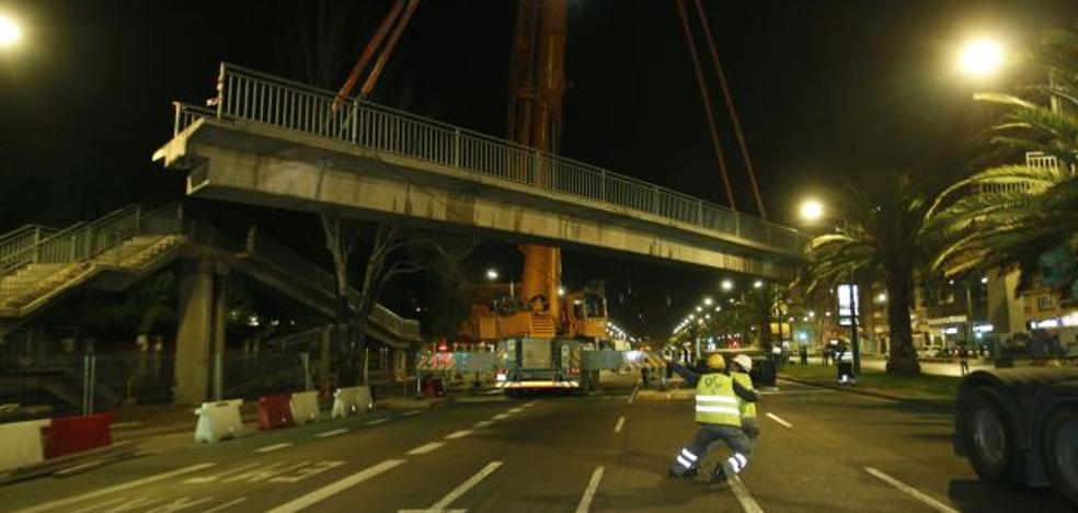 El Ayuntamiento de Valencia retira esta noche las pasarelas de la avenida del Cid