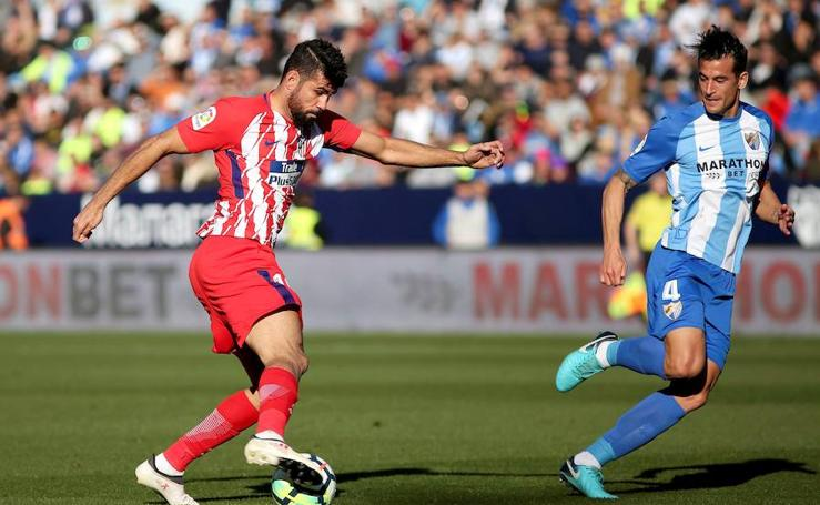 Las mejores imágenes del Málaga-Atlético