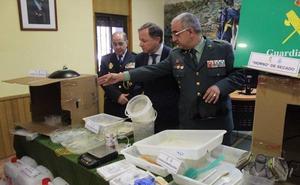 Desmantelan un importante laboratorio de cocaína en un chalé de Ribarroja
