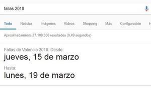 Google recorta el programa de las Fallas 2018