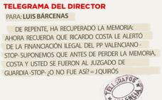 Telegrama para Luis Bárcenas