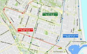 Calles cortadas en Valencia este fin de semana por la celebración del año nuevo chino y la carrera 15K