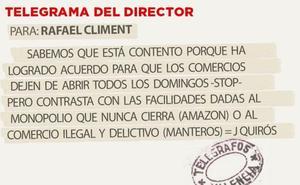 Telegrama para Rafael Climent