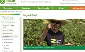 Miguel Bosé se borra de Oxfam tras 20 años como embajador
