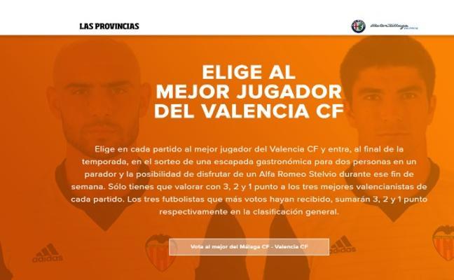 Votar a los mejores jugadores del Valencia CF tiene premio