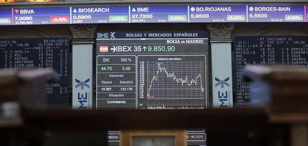 El Ibex-35 se anota un 0.91% y cierra a las puertas de los 9.900