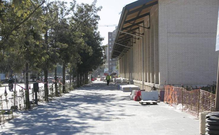 Fotos del exceso de cemento en las obras del Parque Central de Valencia