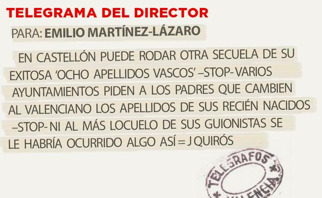 Telegrama para Emilio Martínez-Lázaro